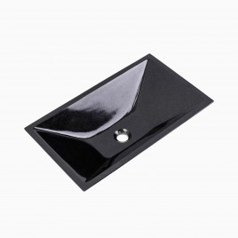 Arvada Stone Vessel Sink, Shanxi Black Granite