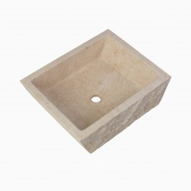 Branson Stone Vessel Sink, Egyptian Yellow Marble
