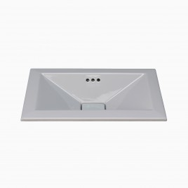 "21"" Leigh Drop-in Ceramic Bathroom Vessel Sink"