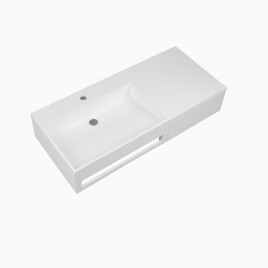 "36"" Vernon Solid Surface Wall Mount Sink"