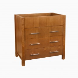 """32"""" Alan Single Bathroom Vanity Base Cabinet Only, Natural Cherry"""