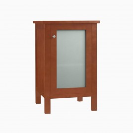 "19"" Cynthia Bathroom Side Storage Cabinet, Natural Cherry"