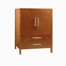 "24"" Cynthia Single Bathroom Vanity Base Cabinet Only, Cinamon"