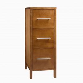 """12"""" Cynthia Vanity Bridge Cabinet with Three Drawers, Natural Cherry"""