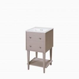 "19"" Fawn Vanity Set with Brockton Ceramic Sinktop"