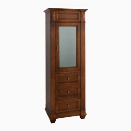 "30"" Juliet Curio Cabinet Display Case, Cherry Americana"