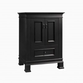 "24"" Laura Single Bathroom Vanity Base Cabinet Only, Antique Black"