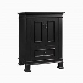 "24"" Laura Single Bathroom Vanity Base Cabinet Only, Antique Black"