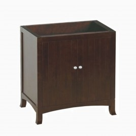 "30"" Pamela Single Bathroom Vanity Base Cabinet Only, Coffee"