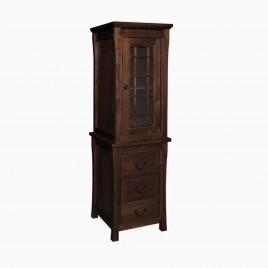 "24"" Sachi Bathroom Linen Tower Storage Cabinet, Coffee"