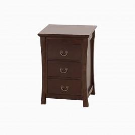"24"" Sachi Bathroom Side Storage Cabinet with Three Drawers, Coffee"