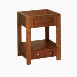 "24"" Stephen Single Bathroom Vanity Base Cabinet Only, Natural Cherry"