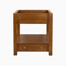 "30"" Stephen Single Bathroom Vanity Base Cabinet Only, Natural Cherry"