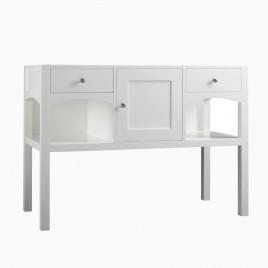 "48"" Violet Single Bathroom Vanity Base Cabinet Only, Cream"