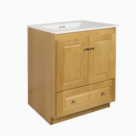 "24"" Wardley Single Bathroom Vanity Base Cabinet Only with Raised Panels, Honey"