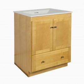 "30"" Wardley Single Bathroom Vanity Base Cabinet Only, Honey"
