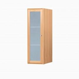 "15"" Wardley Wall Mount Bathroom Linen Hutch Cabinet, Honey"