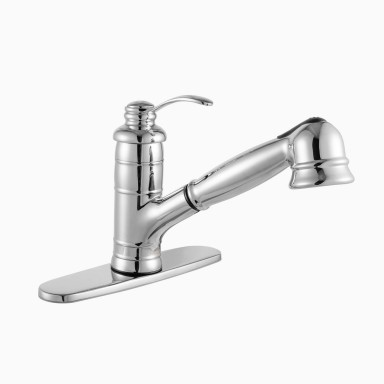 Shelton Single Hole Kitchen Faucet with Pull-Out Spray