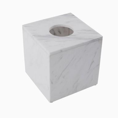 Brax Tissue Box, White Marble