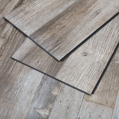 23 Sq Ft Restored Wood Vinyl Interlocking Plank Flooring