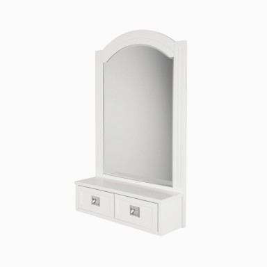 "Burton 24"" W x 38"" H Framed Wall Mirror in White"