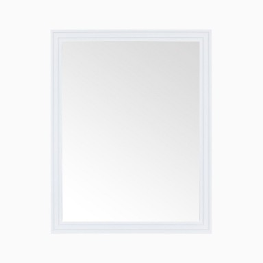 "Cosette 24"" W x 30"" H Framed Mirror in White"