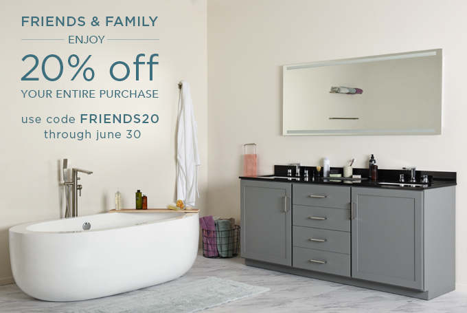 FRIENDS & FAMILY ENJOY 20% off YOUR ENTIRE PURCHASE! Use code FRIENDS20 through June 30