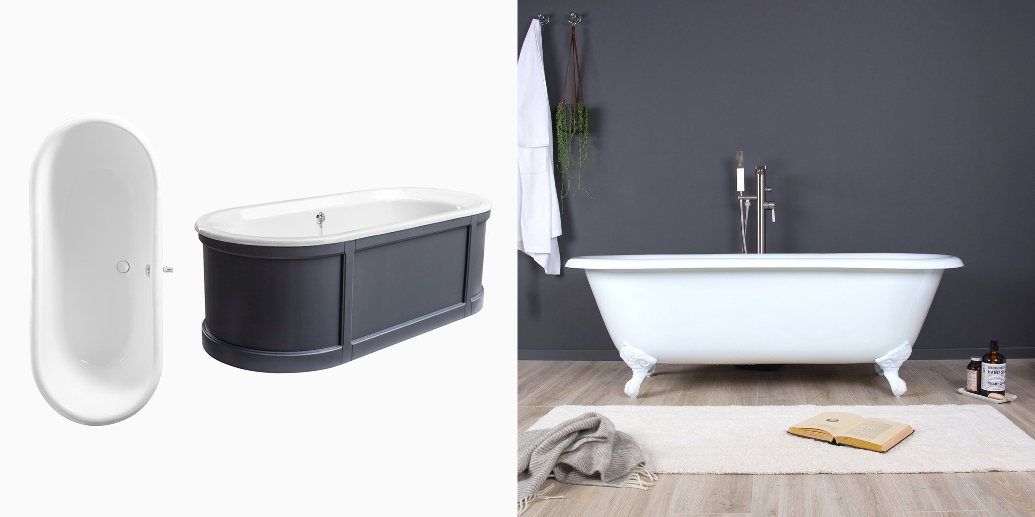 how to clean a cast iron tub