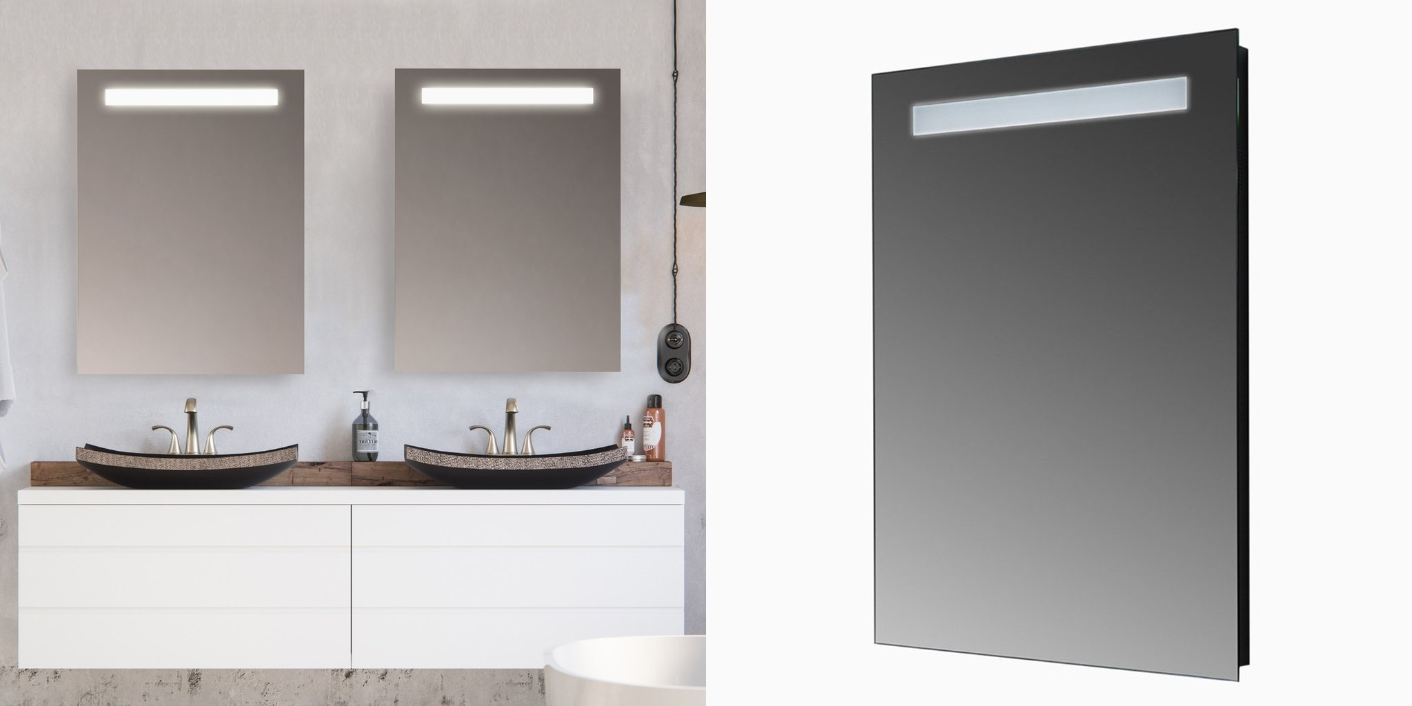 how to clean LED mirrors