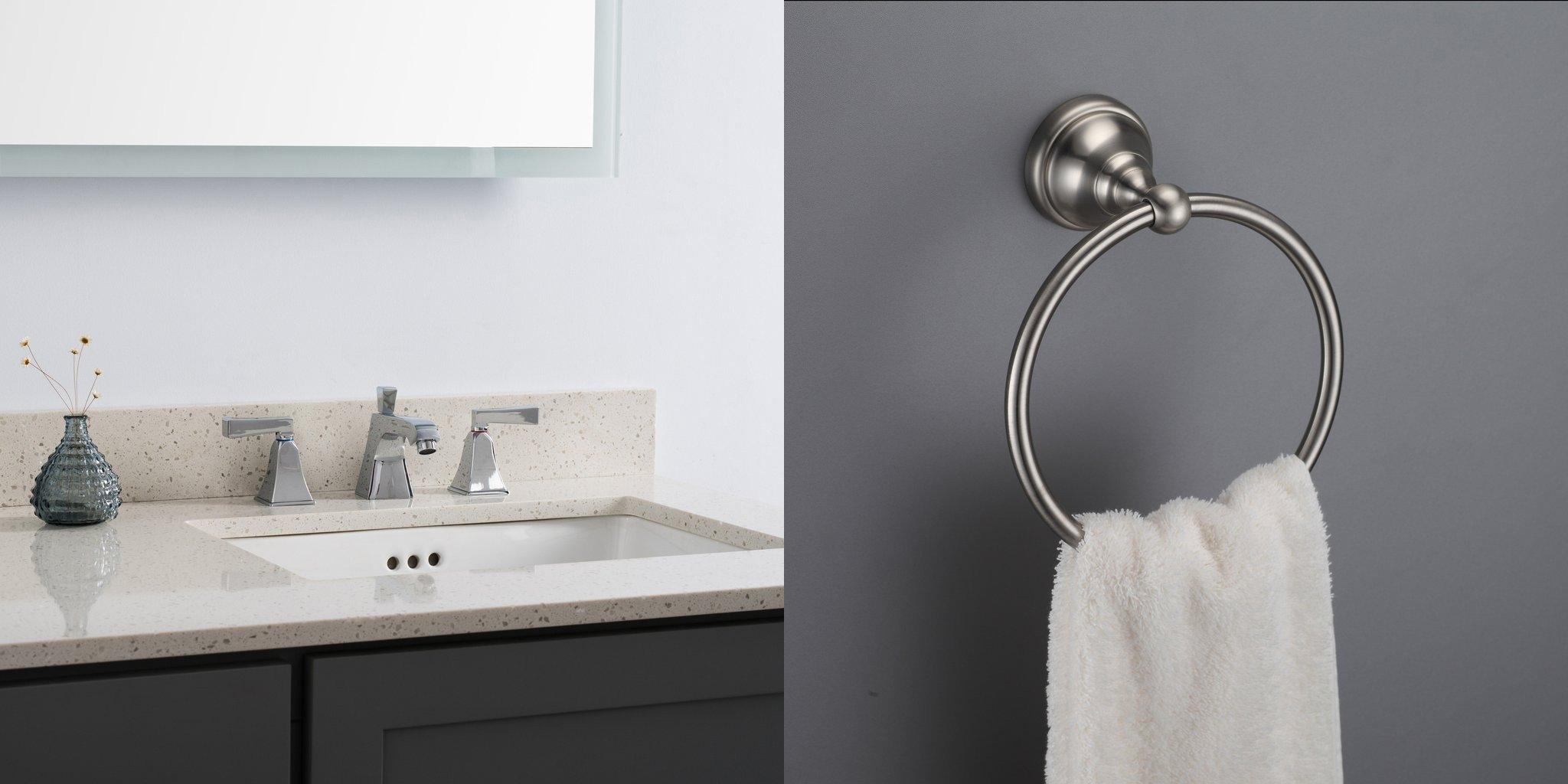 brushed nickel bathroom fixtures