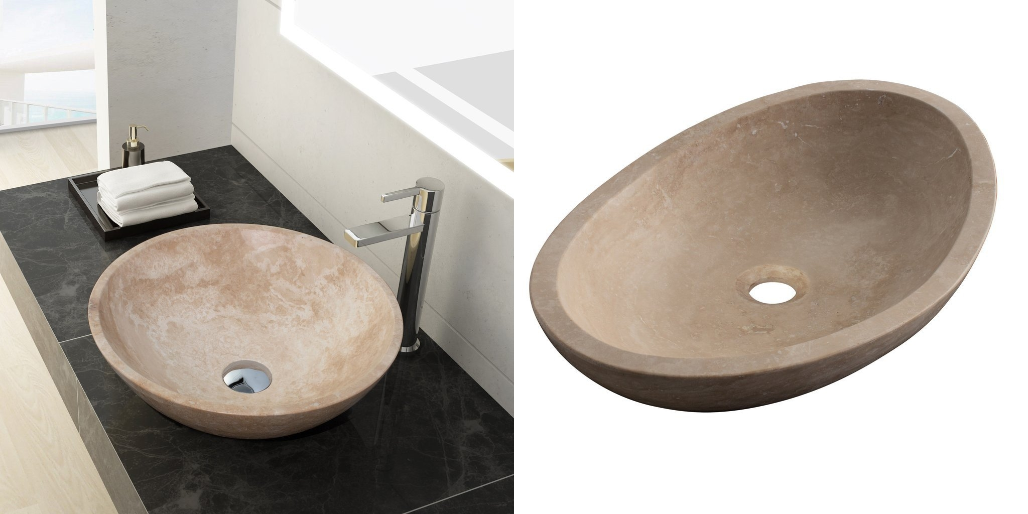 Oval Vessel Sinks