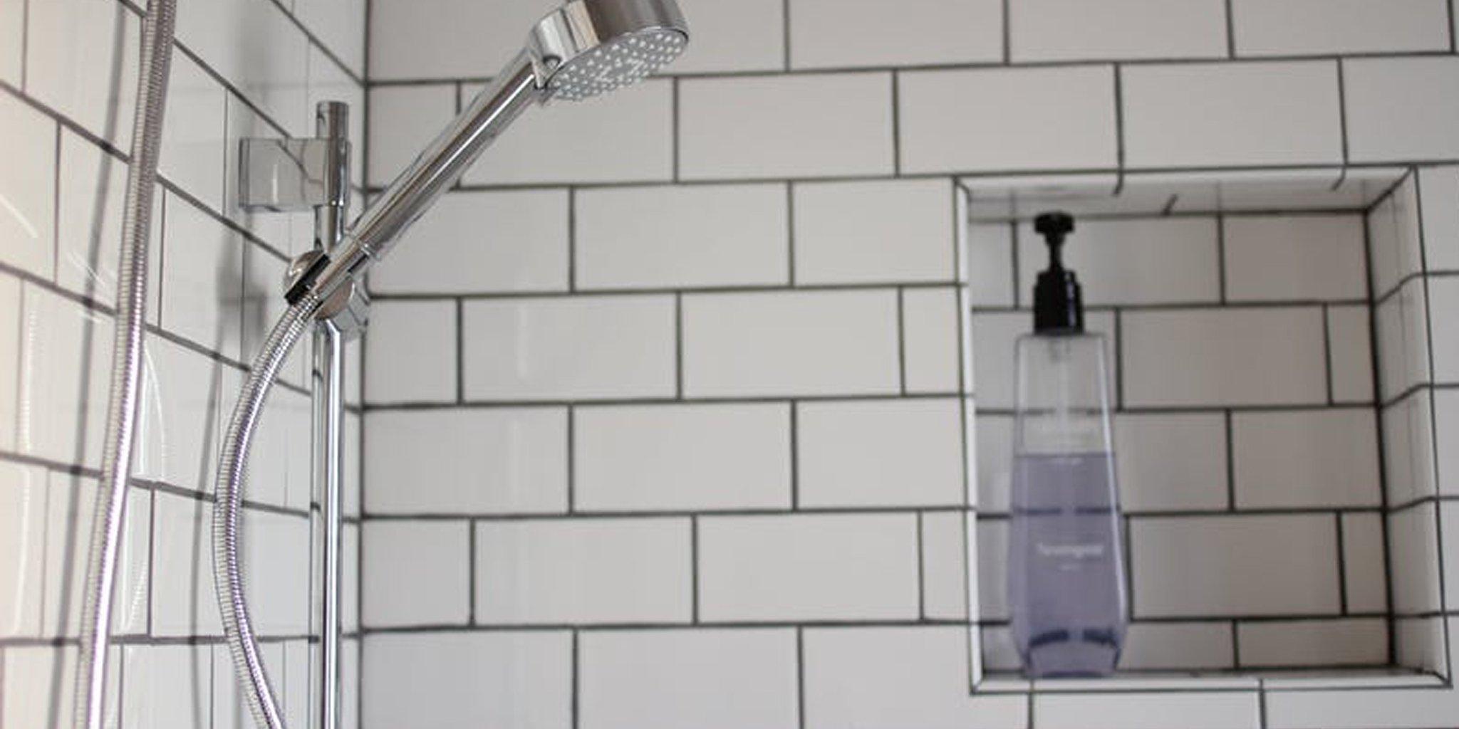DIY recessed shower niche