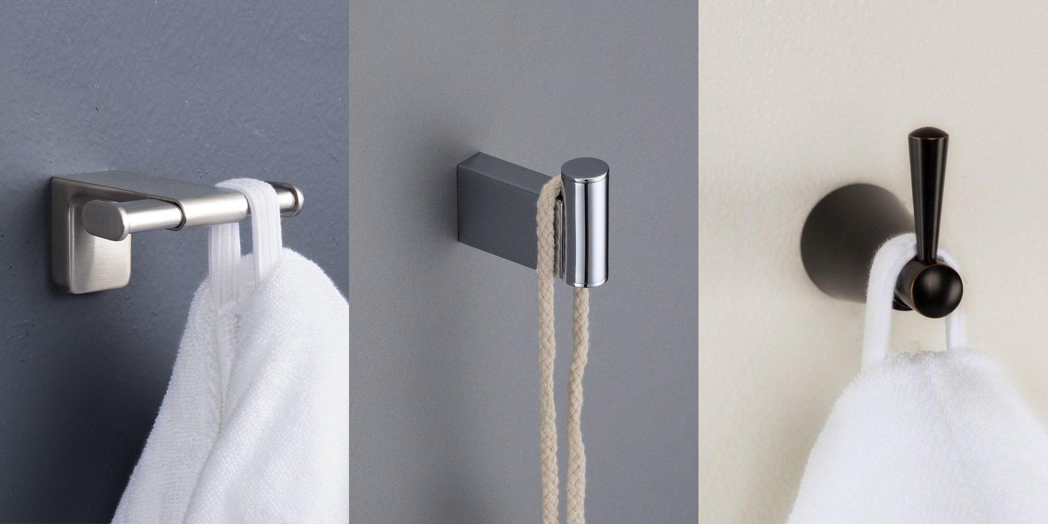 Small Bathroom Idea Robe Hooks
