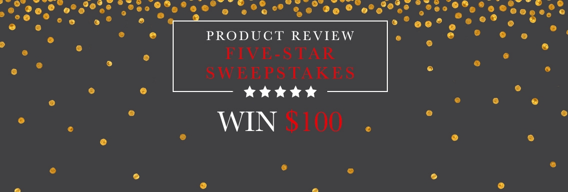 Review Us and Win: 5-Star Sweepstakes