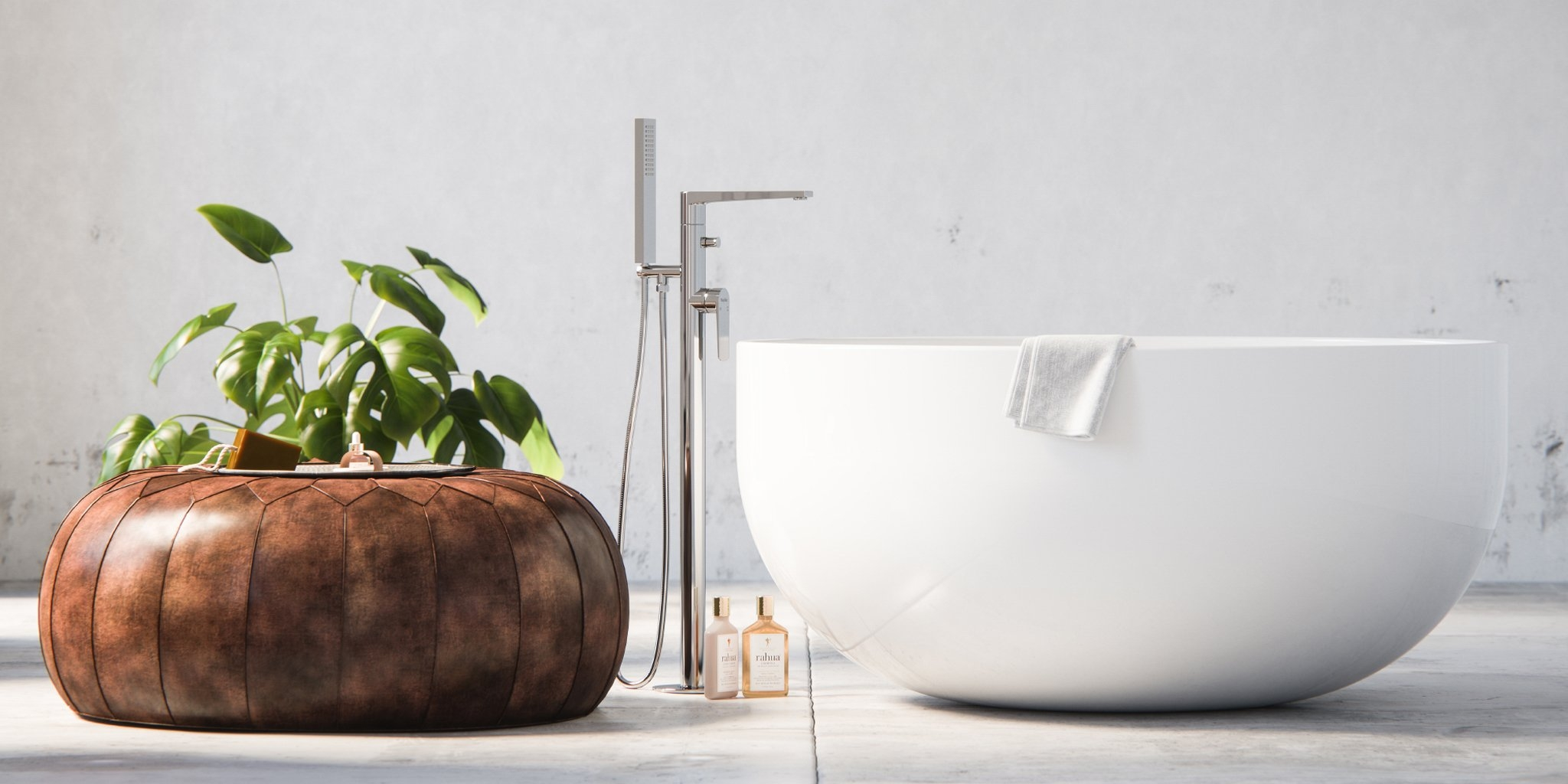 round freestanding tub